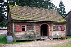 Fort Nisqually - Image: The Fort Nisqually Granary