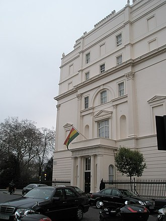 High Commission of Ghana, London - Image: The Ghanaian High Commission in West Halkin Street geograph.org.uk 1089550