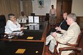 The High Commissioner of Canada in India, Mr. Stewart Beck calls on the Union Minister for Road Transport and Highways, Dr. C.P. Joshi, in New Delhi on September 27, 2011.jpg