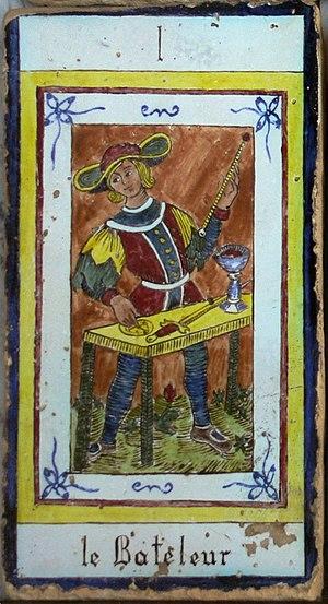 Bateleur (Busker, The Magus), the first card o...