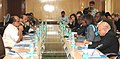 """The Minister of State (Independent Charge) for Consumer Affairs, Food and Public Distribution, Professor K.V. Thomas presiding over the """"World Food Programmes Partnership- The Next Phase"""", a consultation on India.jpg"""