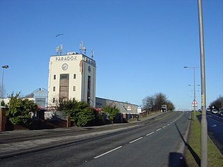 Aintree village in Aintree Village civil parish in the Metropolitan Borough of Sefton, Merseyside
