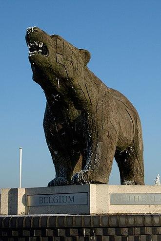 National Memorial Arboretum - The Polar Bear Memorial was the first memorial dedicated on site, on 7 June 1998.