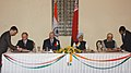 The President of Belarus, Mr. Aleksandr Lukashenko and the Prime Minister Dr. Manmohan Singh witnessing the signing of agreements between India and Belarus, in New Delhi on April 16, 2007 (1).jpg