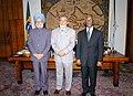 The Prime Minister, Dr. Manmohan Singh, the President of Brazil, Mr. Luiz Inacio Lula da Silva and the President of South Africa, Mr. Thabo Mbeki at IBSA Plenary Session, in Brazil, on September 13, 2006.jpg