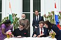 The Prime Minister, Shri Narendra Modi and the Prime Minister of Netherlands, Mr. Mark Rutte witnessing the signing of MoUs between India and Netherlands, at Amsterdam, Netherlands on June 27, 2017.jpg