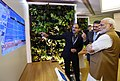 The Prime Minister, Shri Narendra Modi visiting the 'Virtual Digital Exhibition', at the inauguration of the Global Mobility Summit, organised by NITI Aayog, in New Delhi on September 07, 2018 (2).JPG