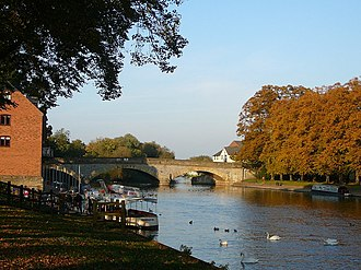 Evesham - Image: The River Avon and Workman Bridge, Evesham geograph.org.uk 1149792