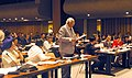 The Speaker, Lok Sabha Shri Somnath Chatterjee moving a resolution in the meeting of the Asia-Pacific Group of IPU proposing discussion on Tsunami at the 112th IPU Assembly as emergent item in Manila on April 4, 2005.jpg