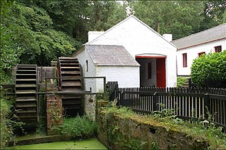 Ulster Folk and Transport Museum - The waterwheel which powered the Coalisland spade mill
