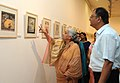 The Union Minister for Culture, Smt. Chandresh Kumari Katoch going round the exhibition of Painting, Sculptures and Prints 'Ragas on Canvas', at the foundation day of the Lalit Kala Akademi, in New Delhi on August 05, 2013.jpg