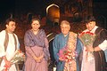 The Union Minister for Tourism and Culture, Smt. Ambika Soni with Ustad Amjad Ali Khan at the Cultural Evening, on the occasion of World Heritage Week Celebration, , in New Delhi on November 22, 2006.jpg
