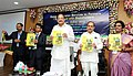 The Vice President, Shri M. Venkaiah Naidu releasing the Handbook on Important Insect Pests and Diseases of Major Crops in India, at the National Institute of Agricultural Extension Management (MANAGE), in Hyderabad.JPG