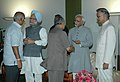 The Vice President, Shri Mohd. Hamid Ansari, the Prime Minister, Dr. Manmohan Singh and the Union Home Minister, Shri Shivraj V. Patil, at an Iftar Party, hosted by the Vice President, in New Delhi on September 10, 2008.jpg