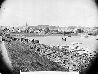The harbour, Pwllheli (c. 1885)