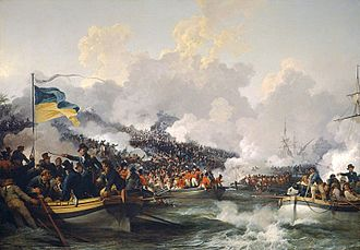 Battle of Abukir (1801) - The landing of British troops at Aboukir, 8 March 1801 by Philip James de Loutherbourg