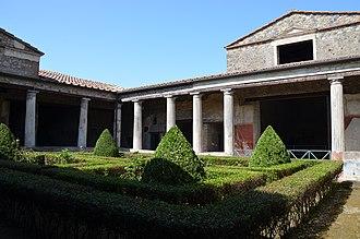 Casa del Menandro - The peristyle (garden) of the Casa del Menandro