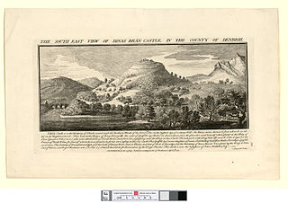 The south east view of Dinas Bran castle: in the county of Denbigh