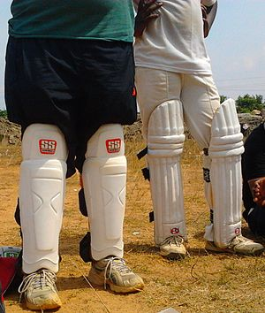 Pads - Pads used for wicketkeeping and batting in cricket.