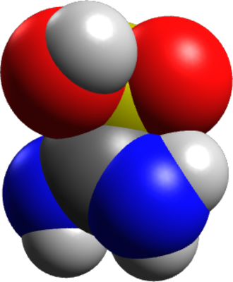Thiourea dioxide - Image: Thiox spacefill