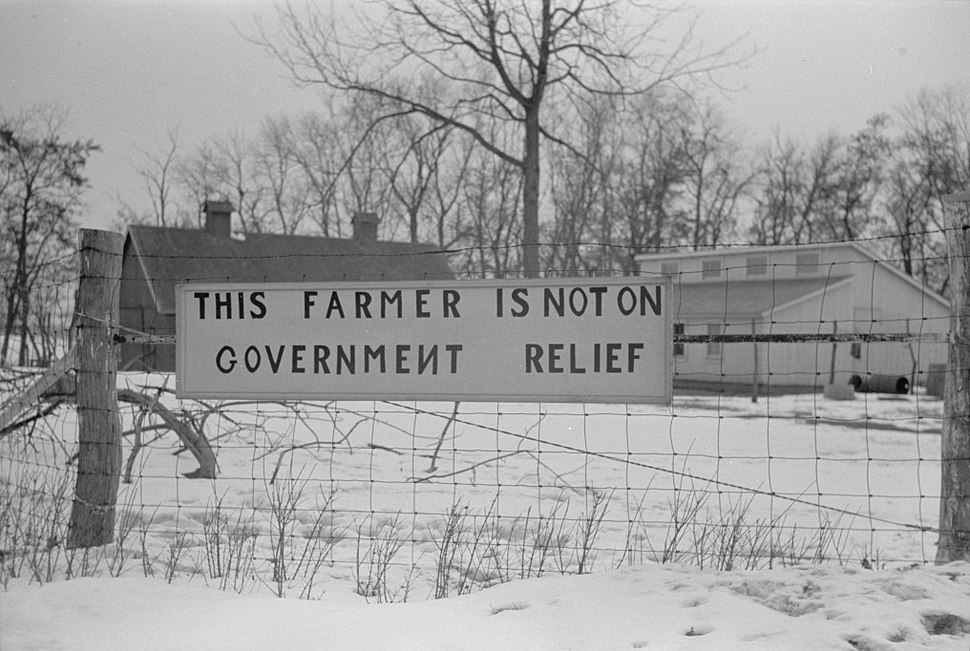 This farmer is not on government relief