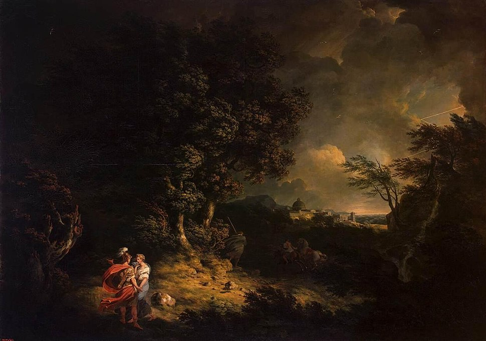 Thomas Jones - Landscape with Dido and Aeneas - WGA11966