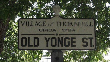 The corner of Old Yonge Street and Centre Street Thornhill Ontario Sign Cropped.jpg