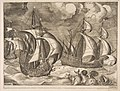 Three Caravels in a Rising Squall with Arion on a Dolphin from The Sailing Vessels MET DP818252.jpg