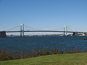 Throgs Neck Bridge - Throgs Neck Bridge from Fort Totten