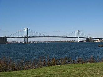 Throgs Neck Bridge - Throgs Neck Bridge from Fort Totten