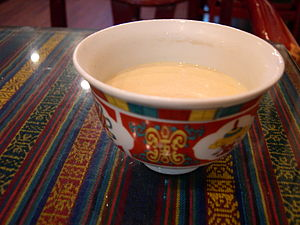 Butter tea - Butter tea in a bowl