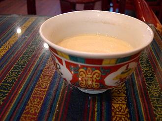 Butter tea - Butter tea in a bowl