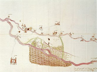 Naviglio Grande - 16th Century map. Milan state archive.