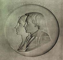 Friedrich Tieck: Ludwig Tieck und seine Schwester Sophie, Marmorrelief, 1796 (Quelle: Wikimedia)