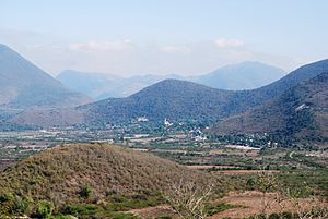 Landa de Matamoros - View of the Tilaco Valley
