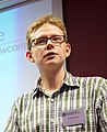 Tim Moritz Hector talked about the Teahouse, a friendly space for Wikipedia newcomers, at the Wikimedia Nederland Conferentie 2013 (10642600204) (cropped).jpg