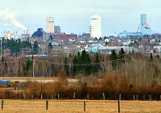 Timmins City in Ontario, Canada