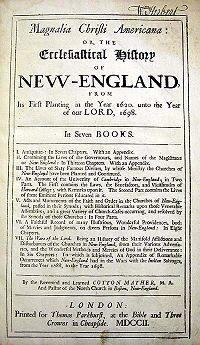 Magnalia Christi Americana cover