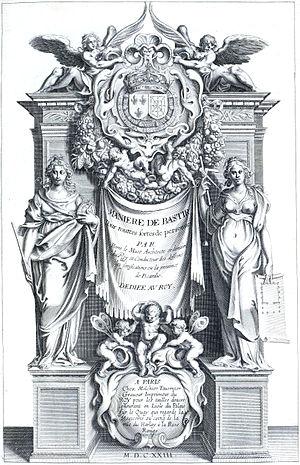 Pierre Le Muet - Title page of Le Muet's Manière de bâtir, 1623