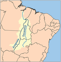 Map of the Araguaia/Tocantins Watershed