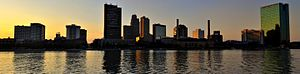 Downtown Toledo - Downtown Toledo's skyline from across the Maumee River