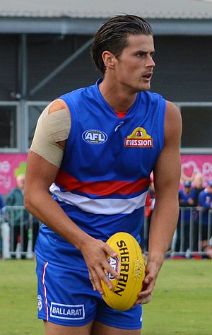 Tom Boyd (Australian footballer) - Boyd playing for the Bulldogs in a pre-season match in February 2017