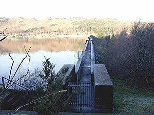 Haweswater Beck - Top of Haweswater Dam, water supply of Greater Manchester, and the source of Haweswater Beck.