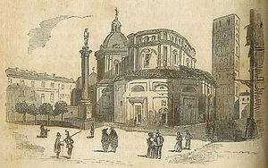 Santuario della Consolata - 1852 engraving of La Consolata
