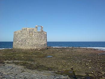 Bajamar en el Castillo de San Cristóbal