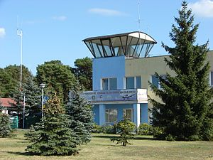 Toruń Airport. Traffic control tower.jpg