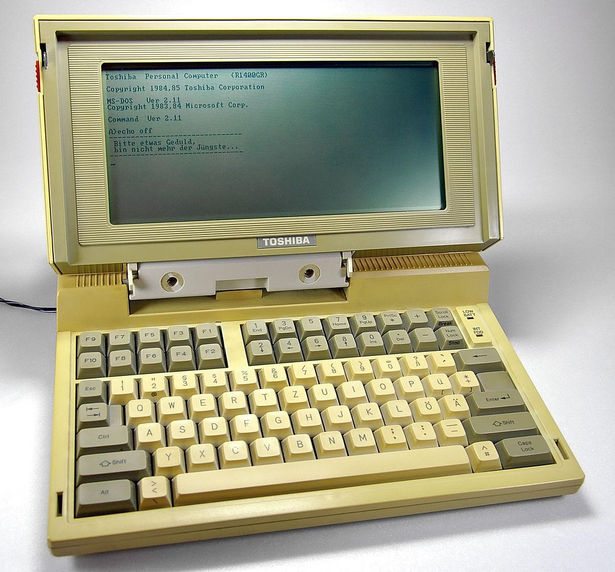 Toshiba T1100 - Wikipedia, la enciclopedia libre