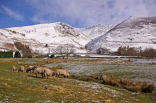 Threlkeld farm village in the United Kingdom