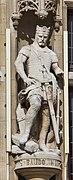Town hall of Dunkerque - statue of Baudoin III de Flandre - detail-7582.jpg
