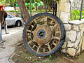 Tractor wheel in Ma'ale Efrayim.JPG